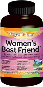 Picture of Crystal Star - Women's Best Friend - Monthly Menstrual Support - 60 Vegetarian Capsules