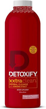 Picture of Detoxify Xxtra Clean Herbal – Tropical Fruit Flavor- 20 oz | Professionally Formulated Extra Strength Herbal Detox Drink | Enhanced with Ginseng Extract & Milk Thistle Extract