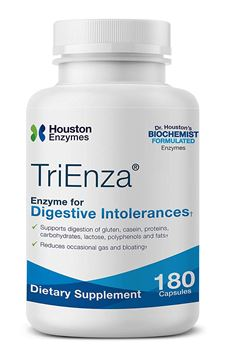 Picture of Houston Enzymes TriEnza – 180 Capsules (90 Doses) | Broad-Spectrum Enzymes for Digestive Intolerances | Supports Digestion of Gluten, Casein, Soy, Proteins, Carbohydrates, Sugars, Fats & Polyphenols
