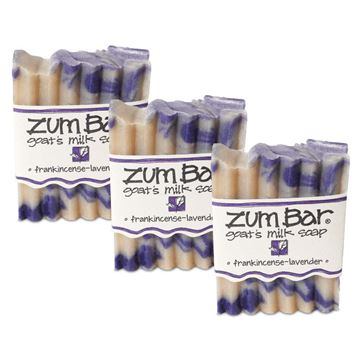 Picture of Indigo Wild Zum Bar Goat's Milk Soap - Frankincense and Lavender 3 Pack