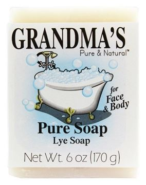 Picture of Grandma's Pure Lye Soap Bar - 6.0 oz Unscented Face & Body Wash Cleans with No Detergens, Dyes & Fragrances - 60018, pack-of-6