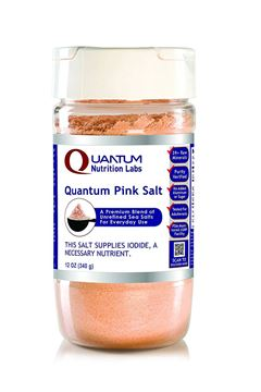 Picture of Quantum Pink Salt, 12 oz - A Premium Blend of Unrefined, Untreated Sea Salts for Everyday Use with No Anti-Clumping Agents or Additives