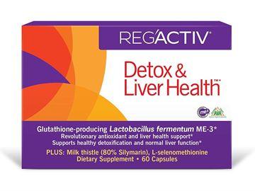 Picture of REG'ACTIV Detox & Liver Health, 60 Capsules, with Glutathione-producing Lactobacillus fermentum ME-3