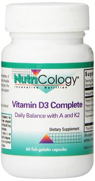 Picture of Nutricology Vitamin D3 Complete with Vitamin A and K2 Capsules, 60 Count