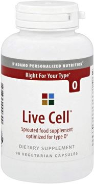 Picture of D'Adamo Personalized Nutrition - Live Cell O 90 vcaps