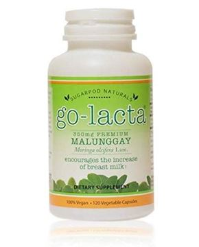 Picture of Go-Lacta Premium Malunggay (Moringa oleifera Lam.) Breastfeeding Supplement Clinically Proven to Support Lactation (120 Capsules)